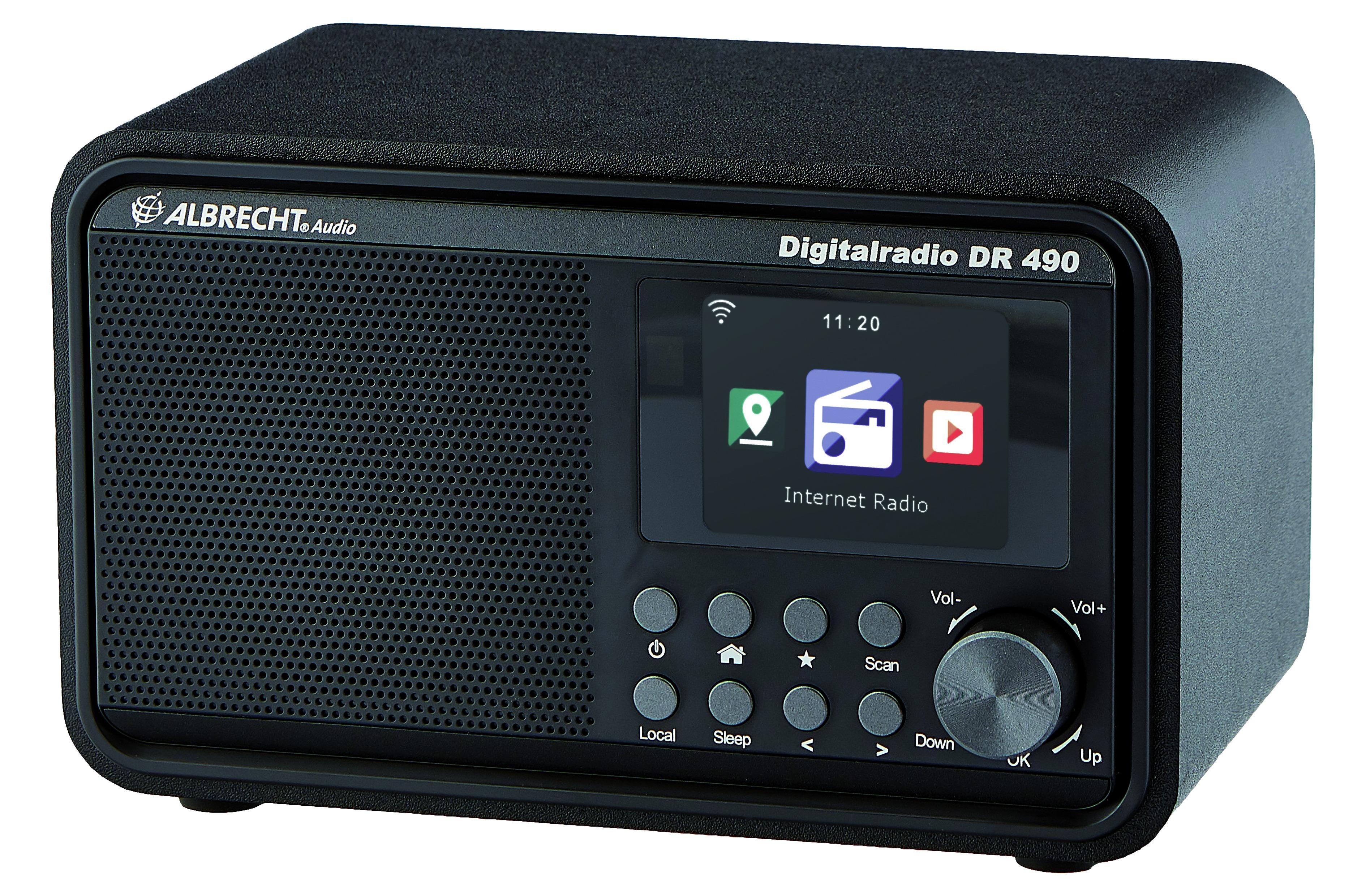 Albrecht DR 490 Hybride radio Zwart