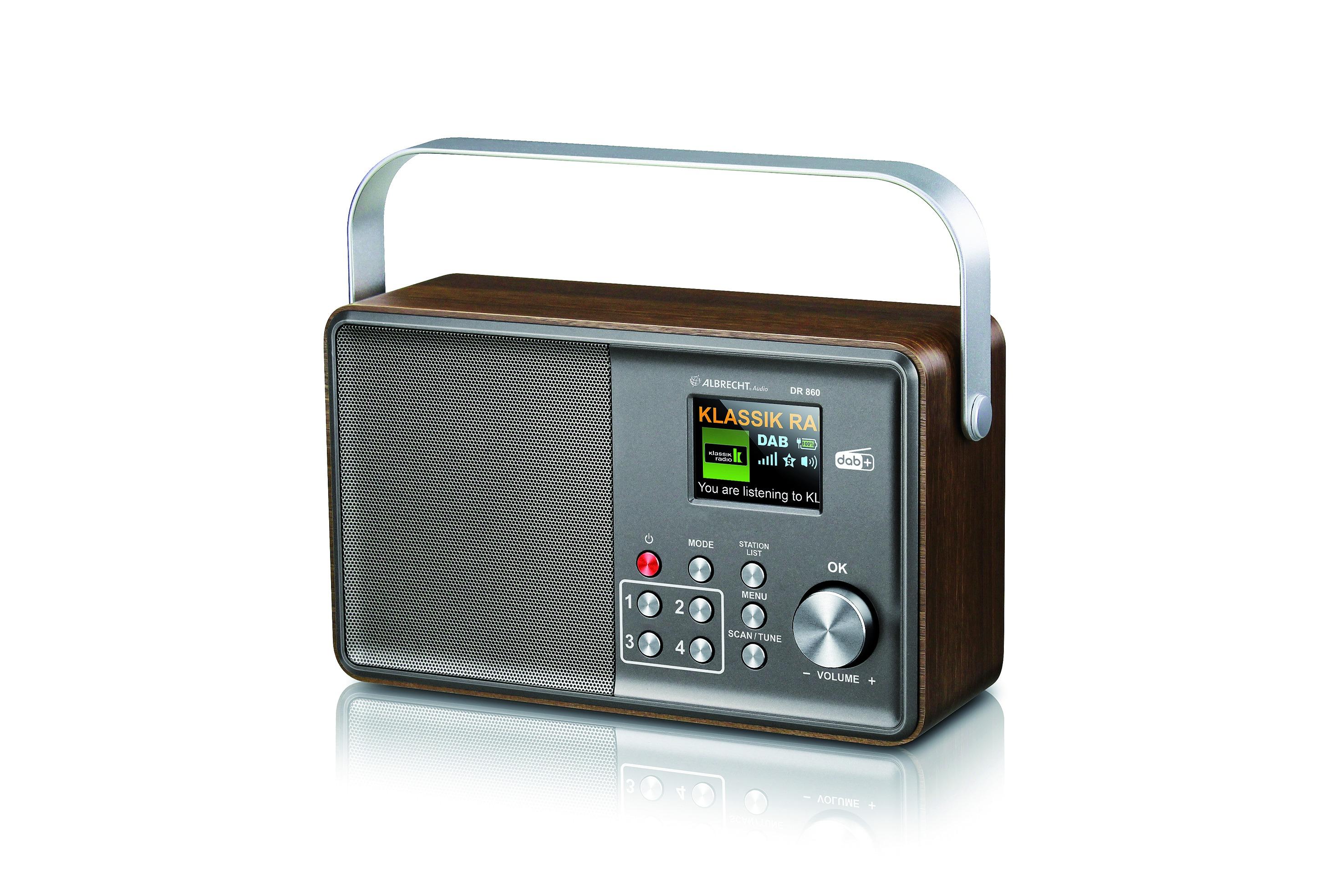 Albrecht DR 860 DAB radio Grijs