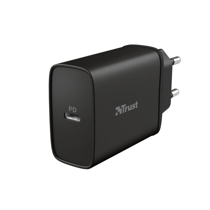 Trust Qmax USB-C PD 18W Oplader Zwart