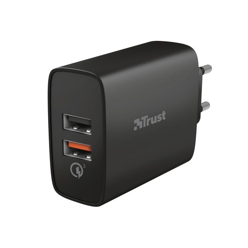 Trust Qmax USB A+A QC3 30W Oplader
