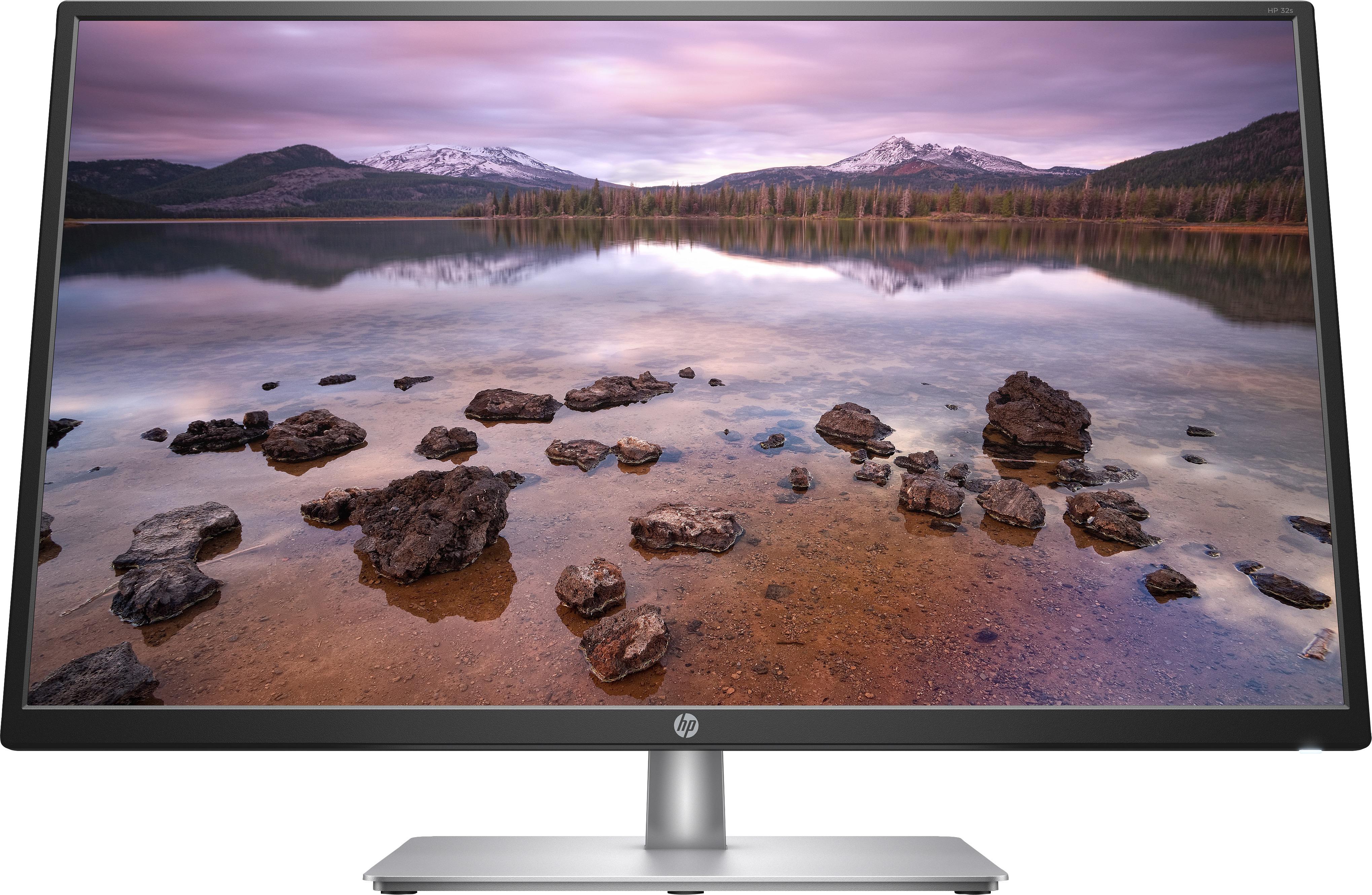 HP 32s Monitor Monitor Zwart