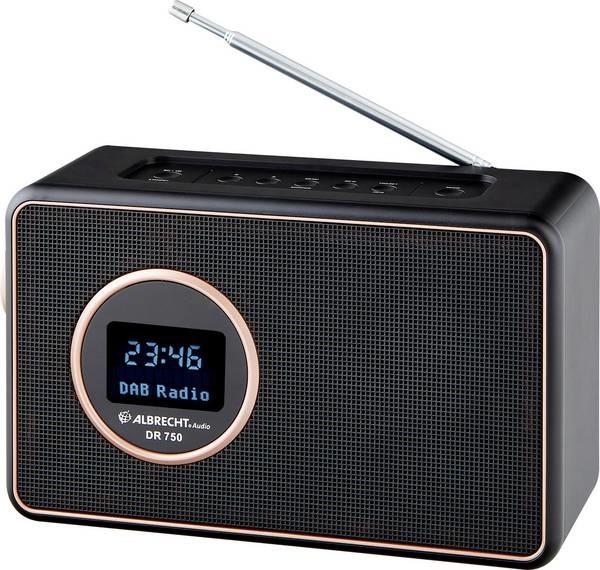 Albrecht DR750 DAB radio Zwart