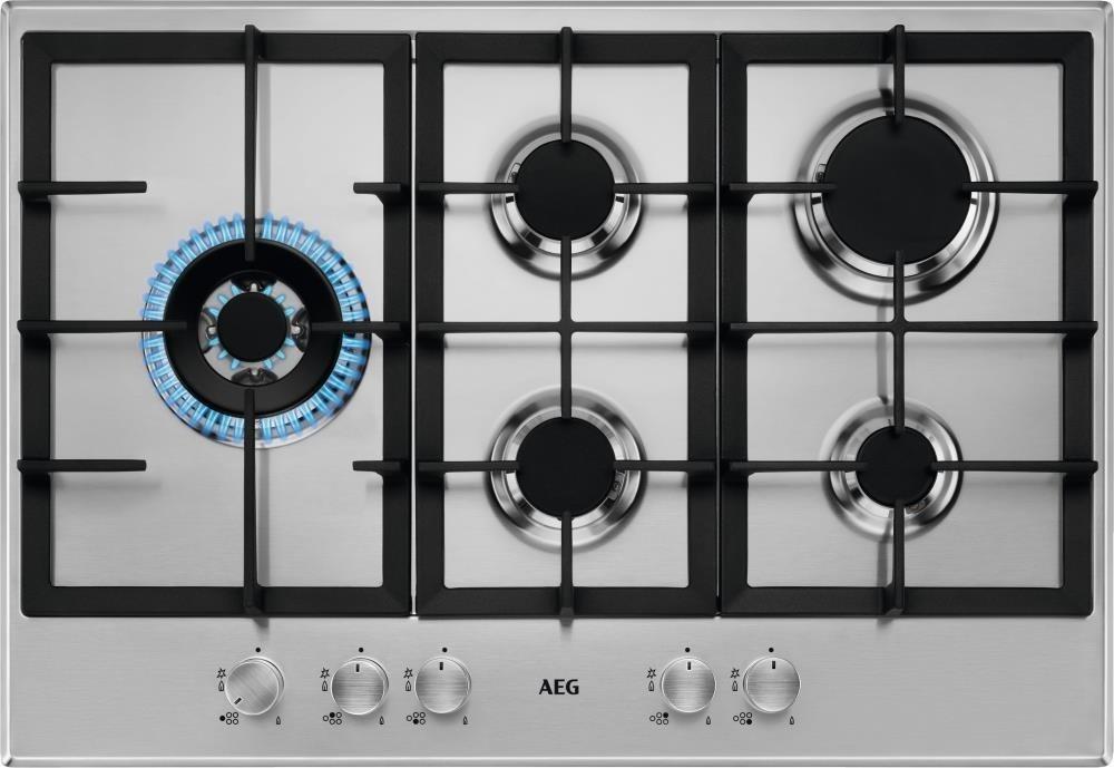 AEG HGB75500SM Gas inbouwkookplaat Staal