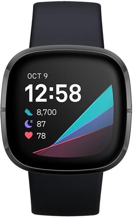 Fitbit Sense Health-Smartwatch Smartwatch Zwart