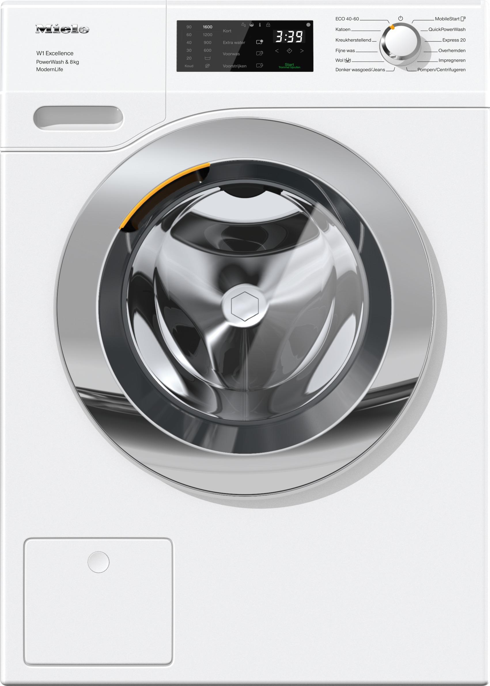 Miele WEF 375 WPS Wasmachine Wit