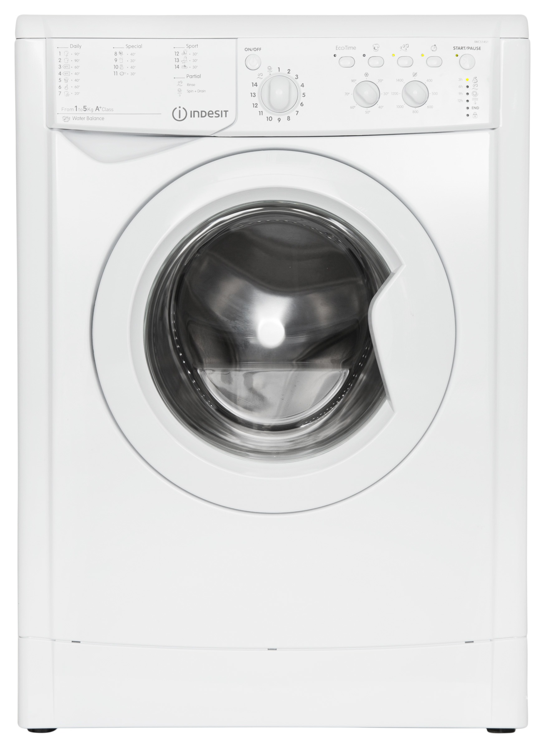 Indesit EWC 51451 W EU N Wasmachine Wit