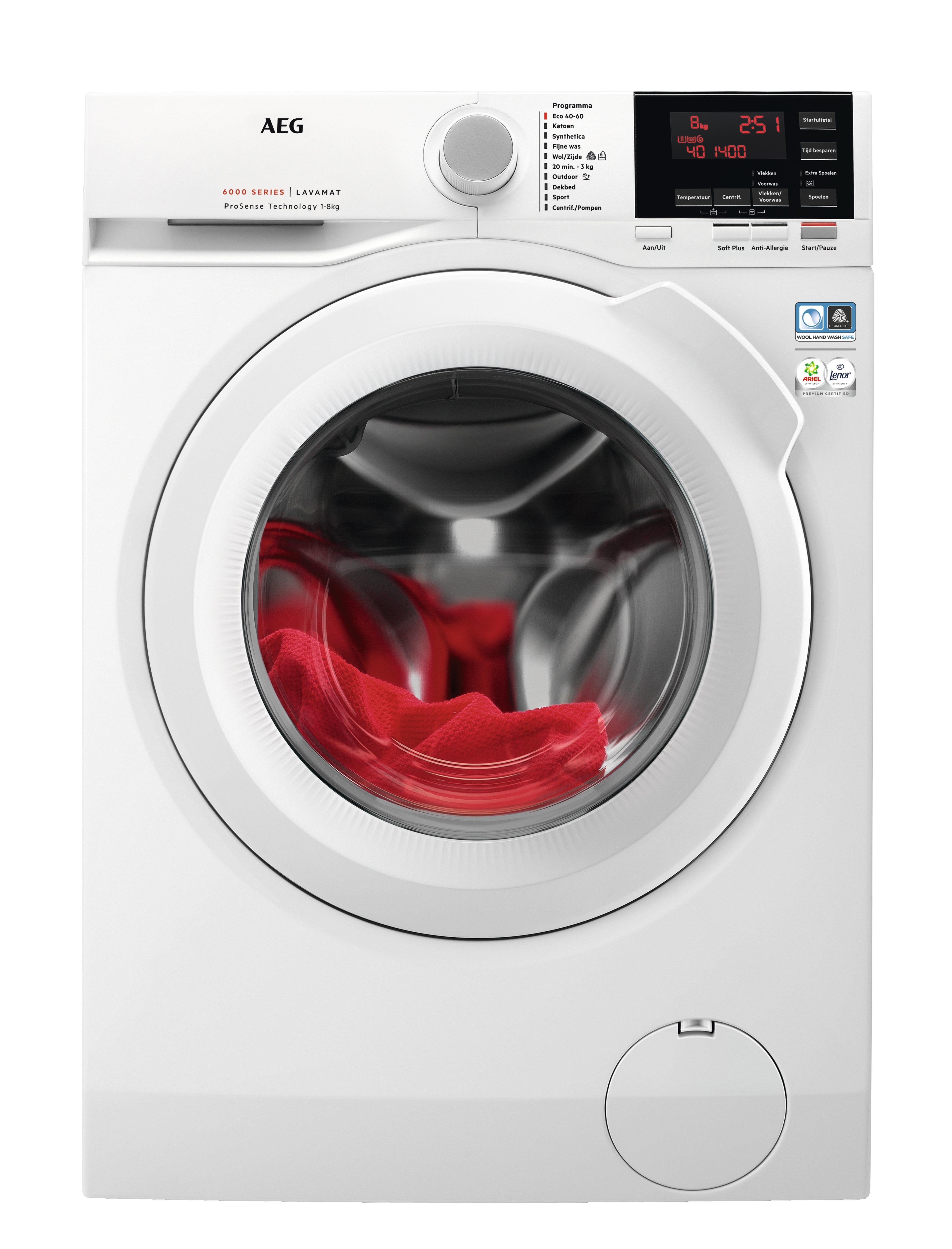 AEG L6FBSPORT Wasmachine Wit