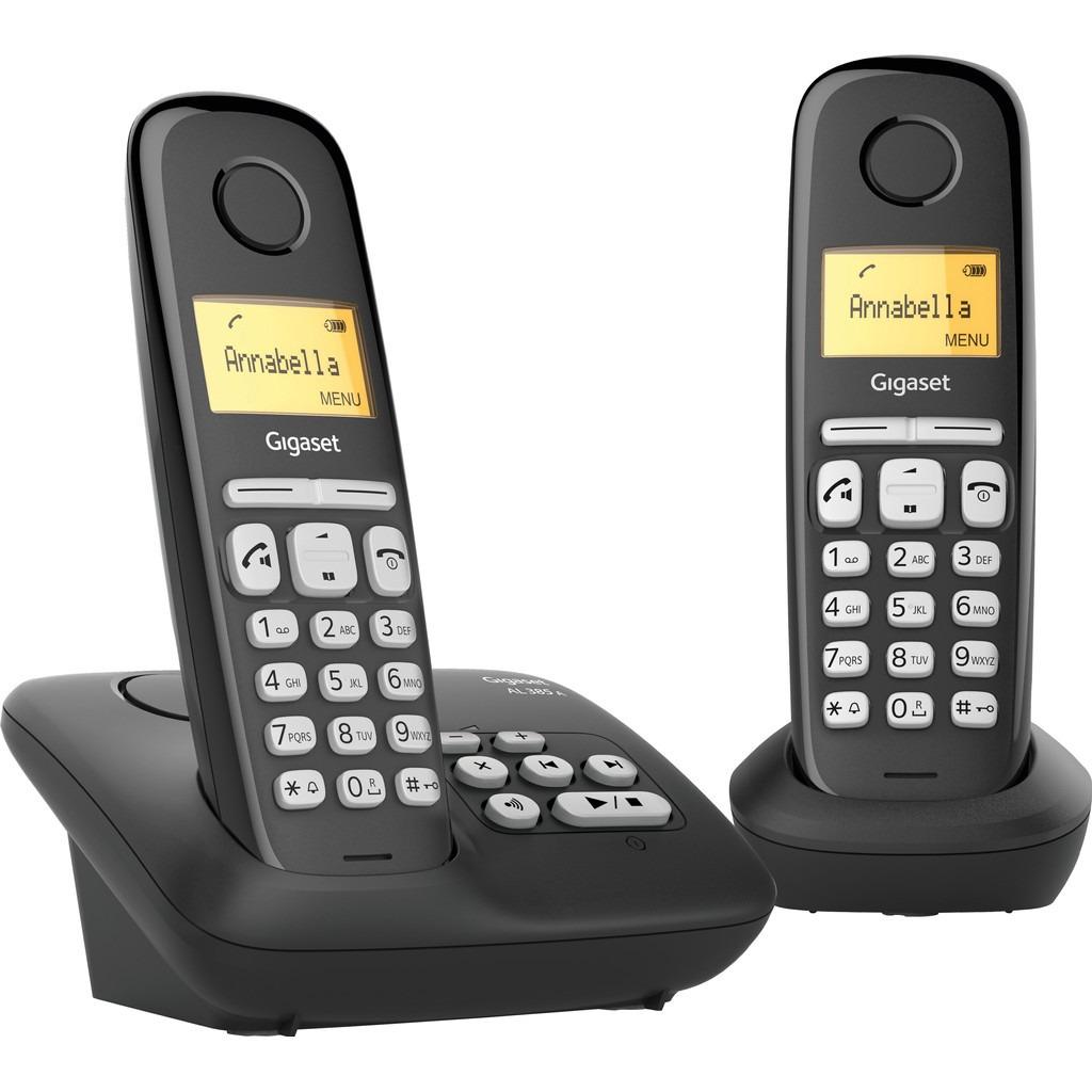 Op Perfect LCD is alles over telefoons te vinden: waaronder expert en specifiek Gigaset AL385A DUO Dect telefoon Zwart