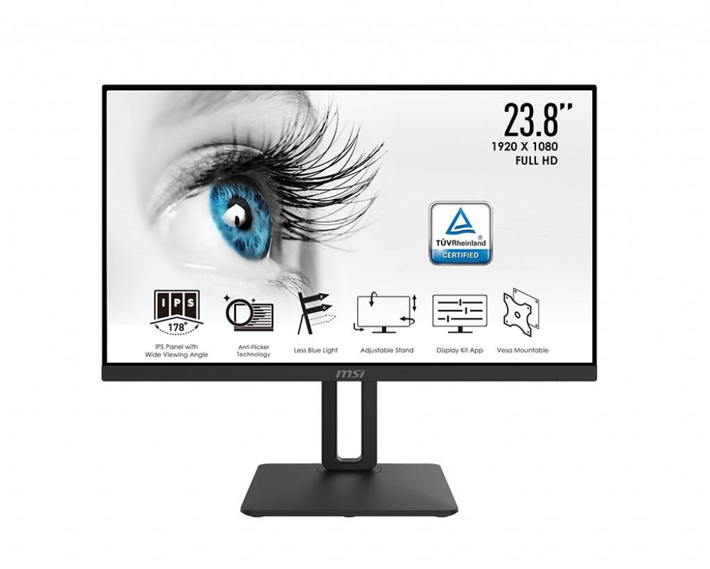 MSI Pro MP242P Monitor Zwart
