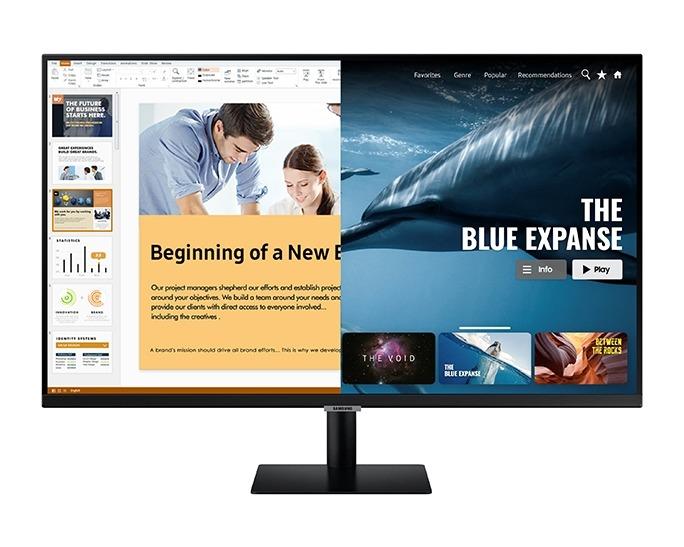Samsung LS32AM700URXEN Monitor Zwart