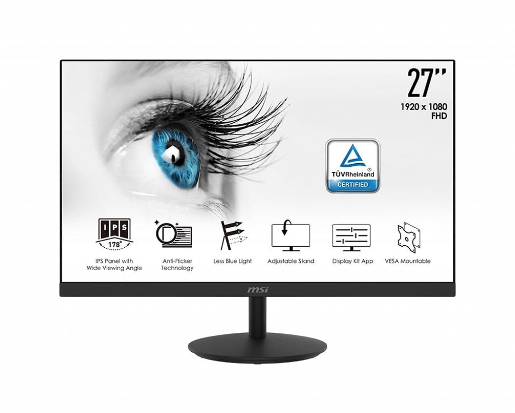 MSI Pro MP271 Monitor Zwart