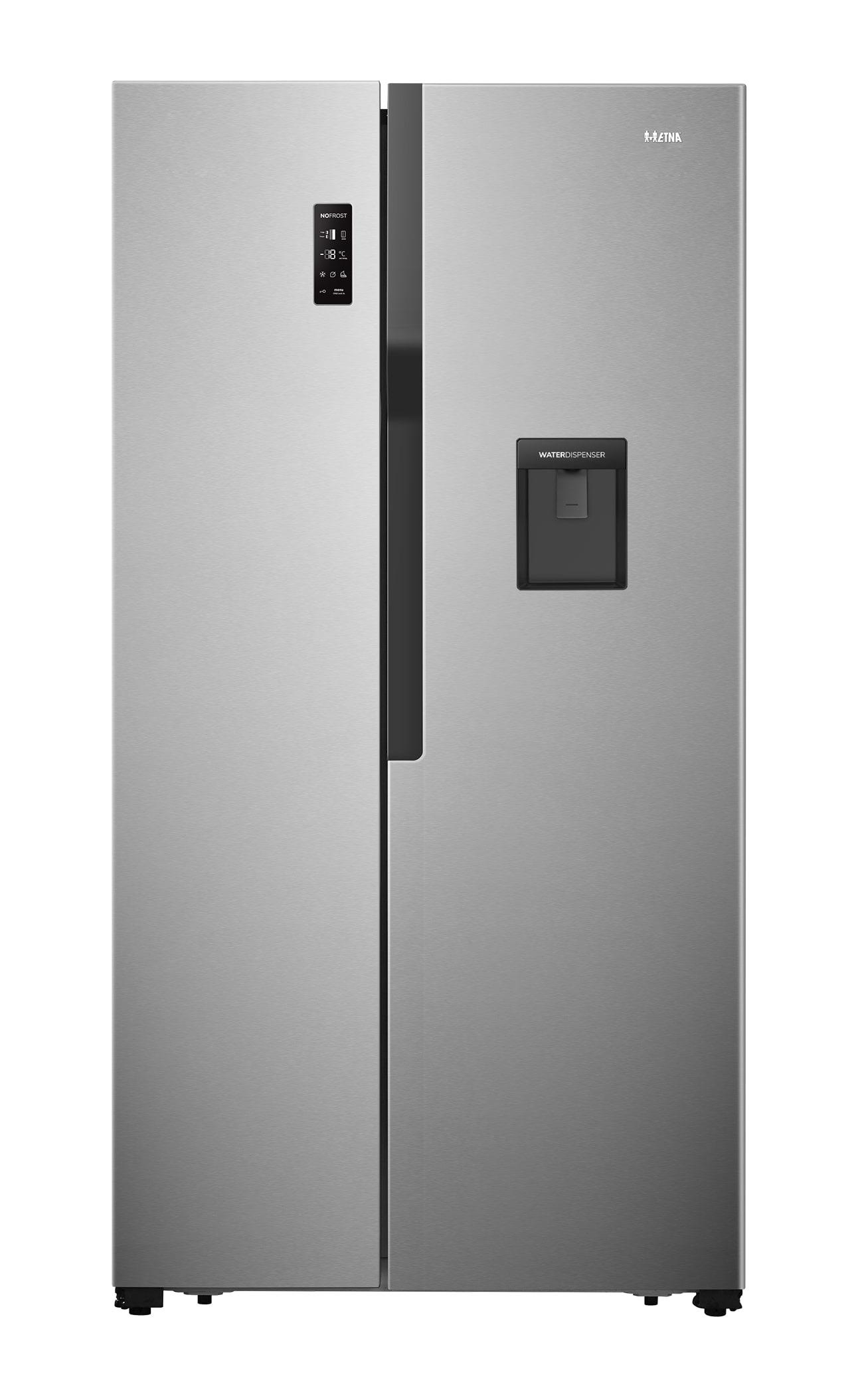 Etna AKV378W Amerikaanse koelkast Zilver