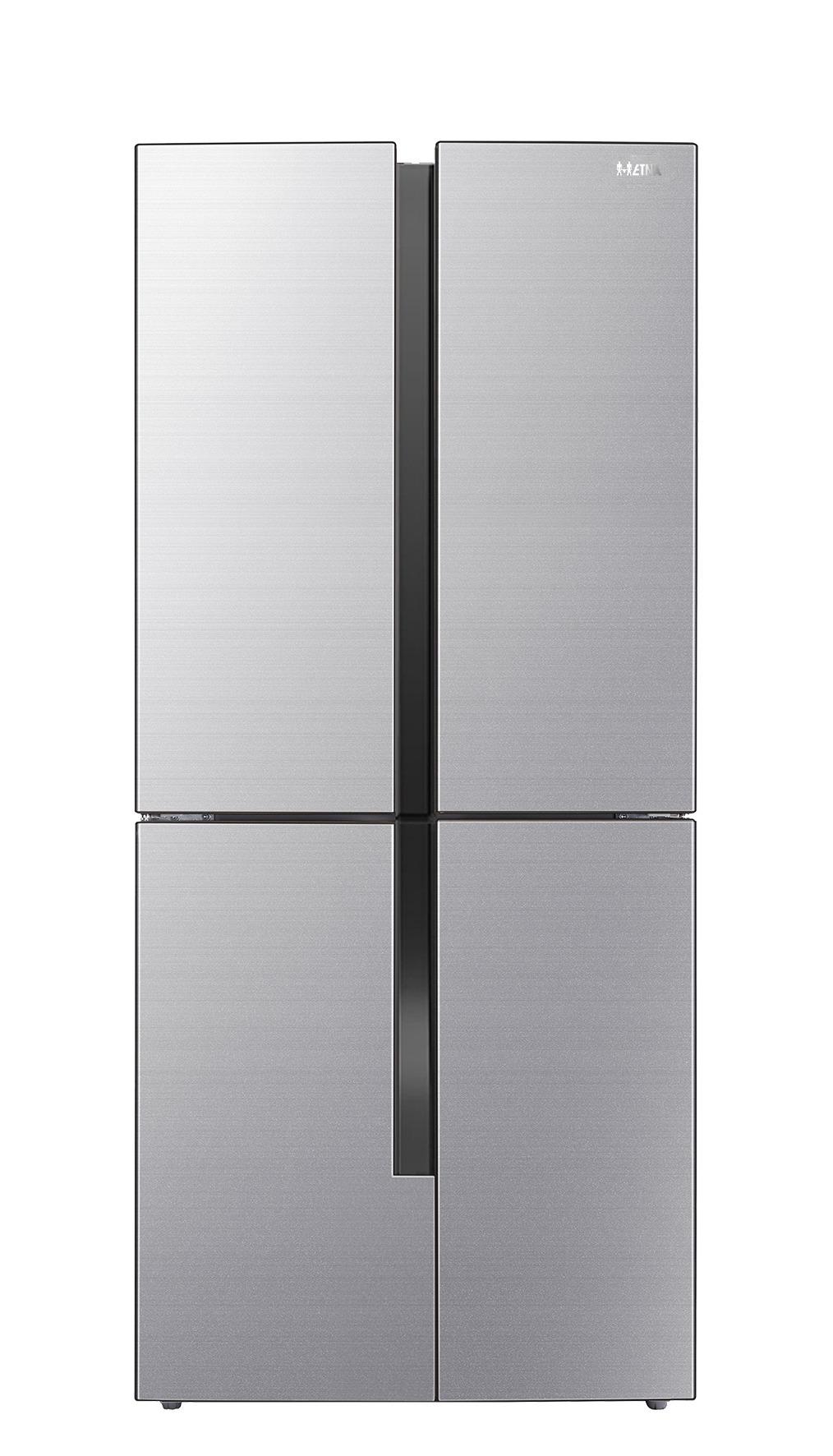 Etna MKV581 Amerikaanse koelkast Staal
