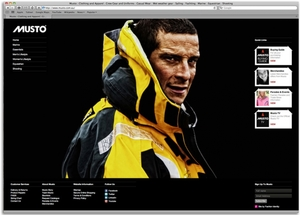 Musto Australasia e-commerce website