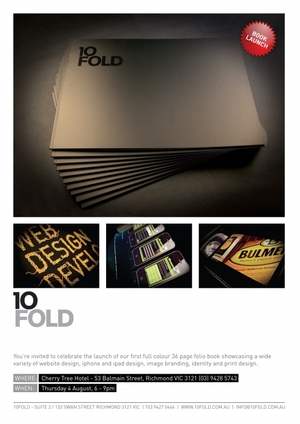 10FOLD Folio Book Launch Invititation