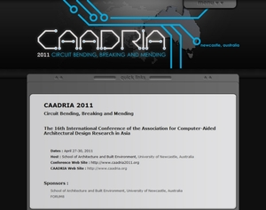 University of Newcastle CAADRIA 2011