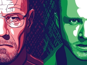Two Tone Artwork - Walter and Jesse