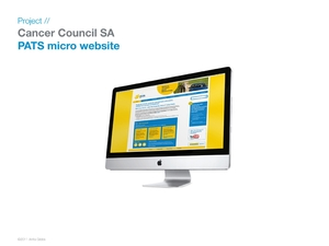 Cancer Council micro website