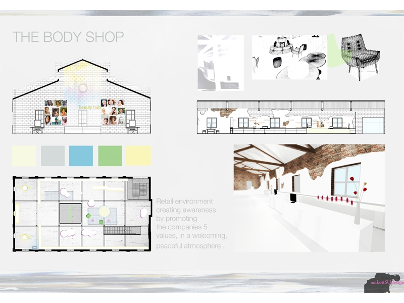 Retail design heritage building the body shop for Retail store floor plan maker