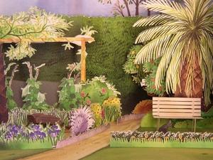 Garden diorama
