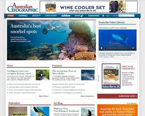 Australian Geographic website