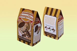OrangeChoc Cookie Packaging Design