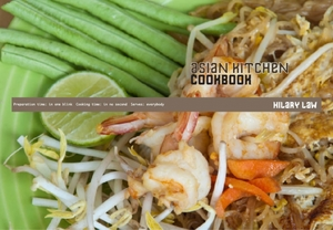 Asian Kitchen Cookbook layout design