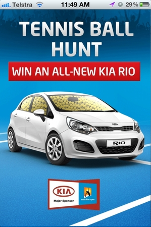 KIA Australia - Australian Open, Ball Hunt