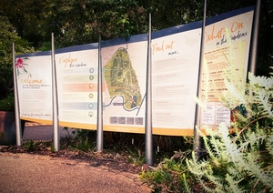 Australian National Botanic Gardens Way-finding Signage