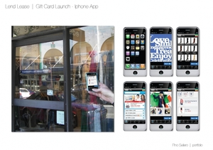 Lend Lease  |  Gift Card Launch - Iphone App