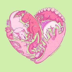 Loveasaurus Illustration