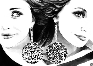 Meets Obsession QR Code Fashion Illustration