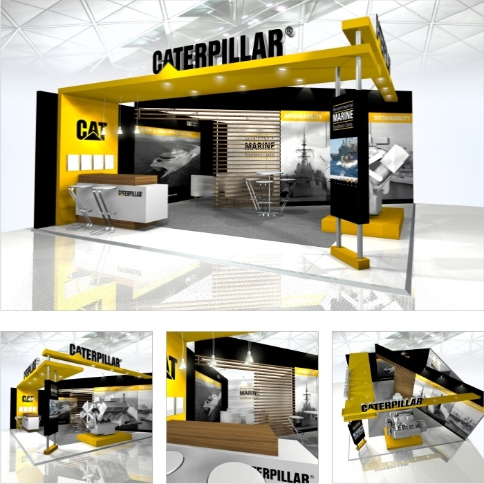 Exhibition Stand Design Hampshire : Caterpillar clayton o brien portfolio the loop