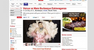 Venus Vs Mars - Burlesque Event and Partnership
