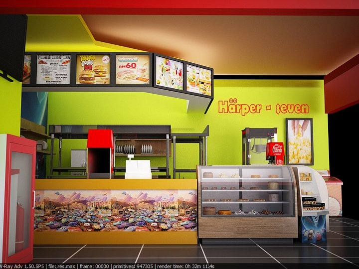 Design Happer Fast Food Restaurant Minh Duy Nguyen Portfolio The Loop