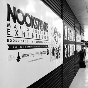 Mario Inspired Exhibition @Nookstore with LA Division