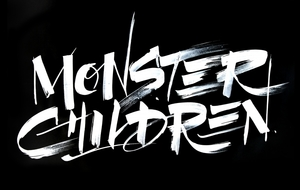 Monster Children brush lettering