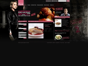 Australian Pork customise home page for International PorkFest