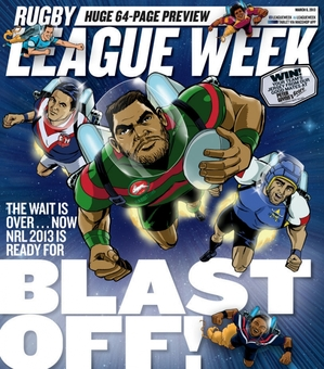 Rugby League Week BLAST OFF! Cover