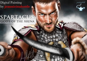 SPARTACUS - GODS OF THE ARENA - Digital Painting by jeannieinabottle