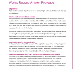 Darren Criss World Record Attempt Proposal