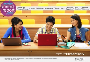 Ngee Ann Polytechnic's Annual Report 2010 / 2011 Website