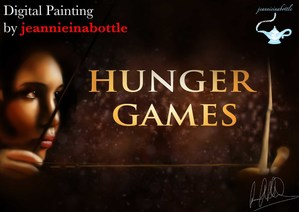 HUNGER GAMES - Digital Painting by jeannieinabottle