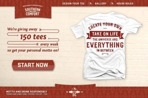 Whatevers Comfortable Personal Motto T-shirt Generator
