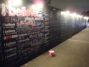 'I Believe...' Wall at Melbourne Festival 2011
