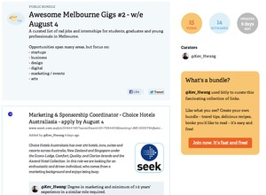 Awesome Melbourne gigs - weekly curated jobs newsletter