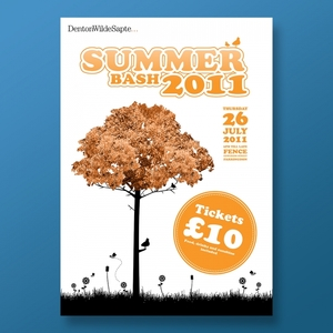 Denton Wilde Sapte Summer Bash Poster & Ticket