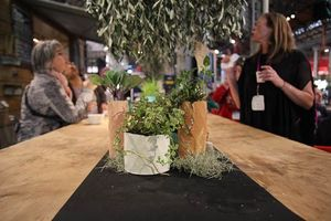 My Hand-made Resin vases and planters at Sydney Indesign, 2013 - Galleria Cafe space with PEPO Botanical Design