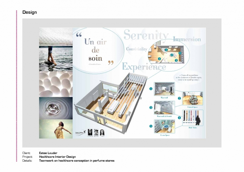 Estee lauder healthcare interior design kim sentis portfolio the loop for How to make interior designer portfolio