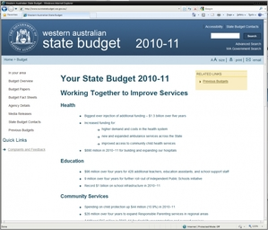 West Australian State Budget